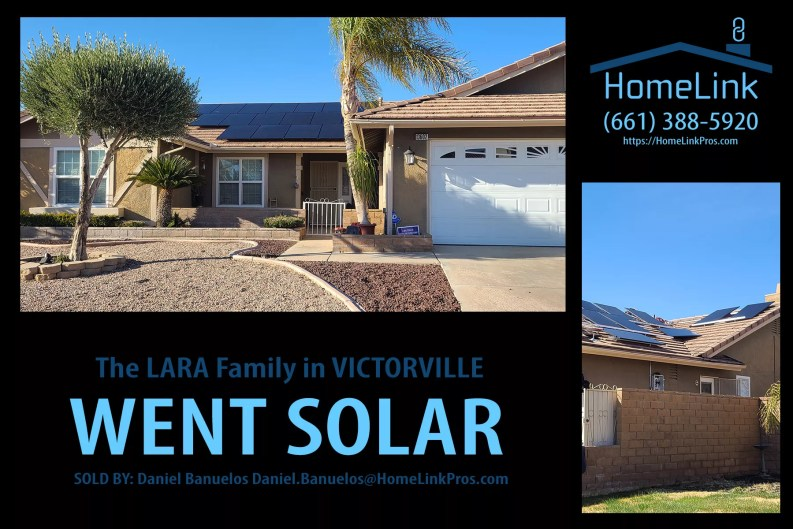 Lara family in Victorville went solar with HomeLink