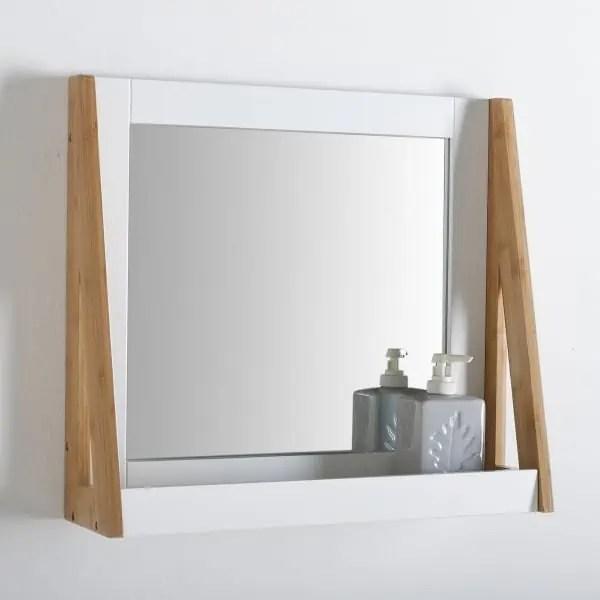 Miroir Rond Avec Tablette Salle De Bain Onearth Top