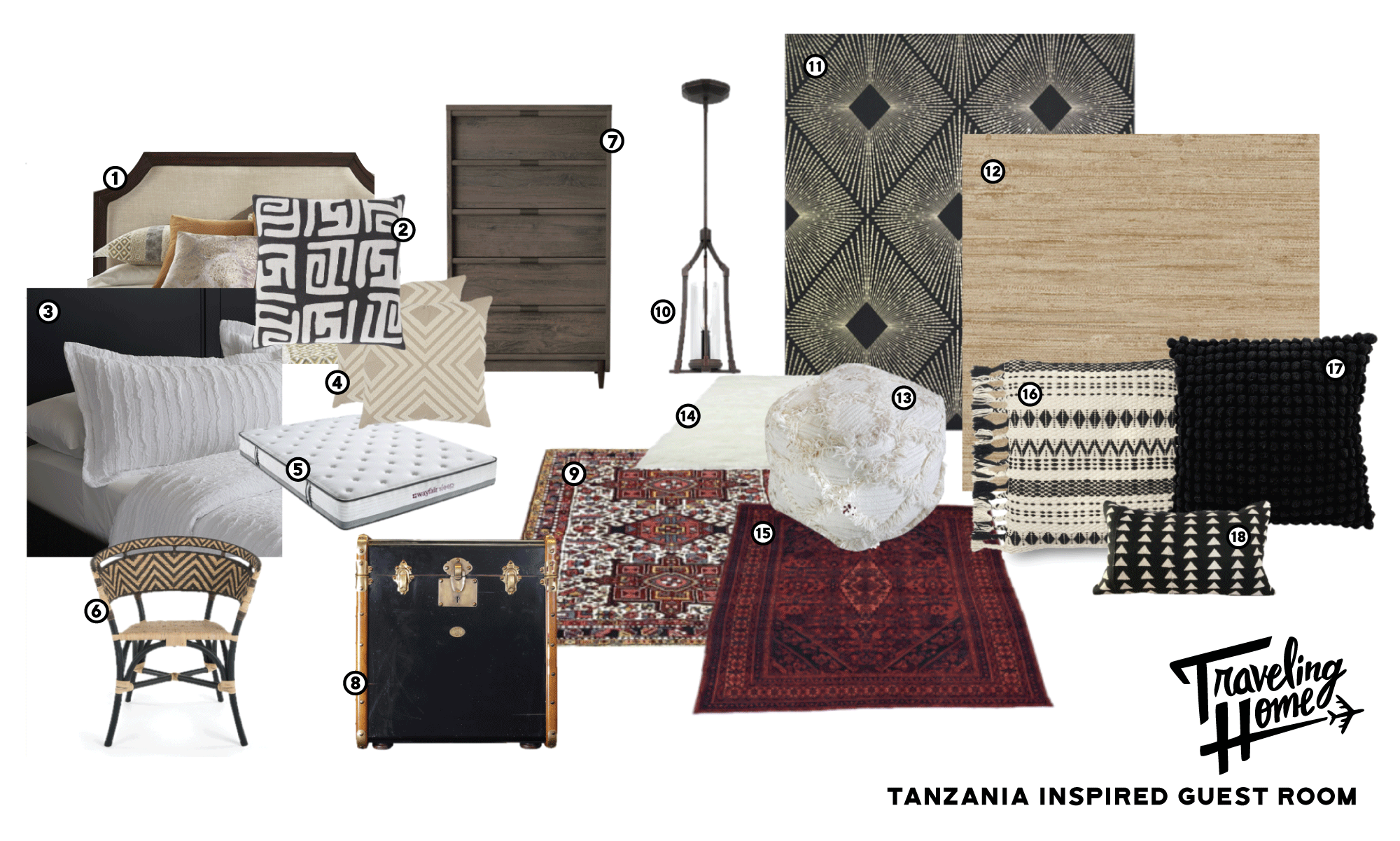 Shop Traveling Home Episode 3: Tanzania Inspired Guest Room
