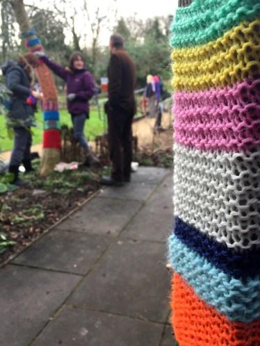 Yarn Bombing at the Secret Garden
