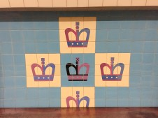 Kings Cross tiles designed by Tom Eckersley