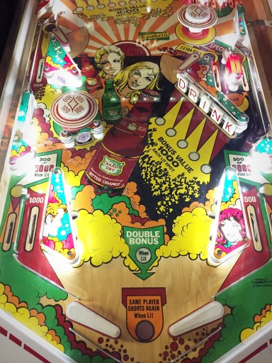 Canada Dry promotional pinball machine produced by Gottlieb in 1976,