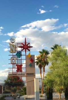 LED sign for the Neon Boneyard at the Neon Museum Letters inspired by other famous Vegas signs