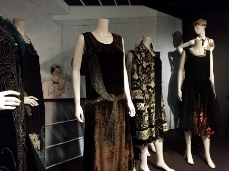 1920s evening dresses at the Fashion and Textile museum