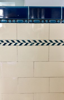 Original Art Deco tiles in the bathrooms on the first, second and third floor