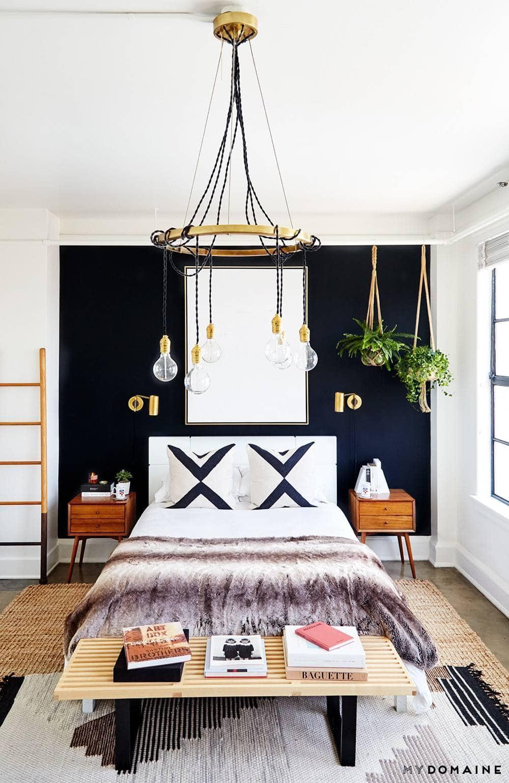 Black Accent Wall Bedroom Ideas Novocom Top