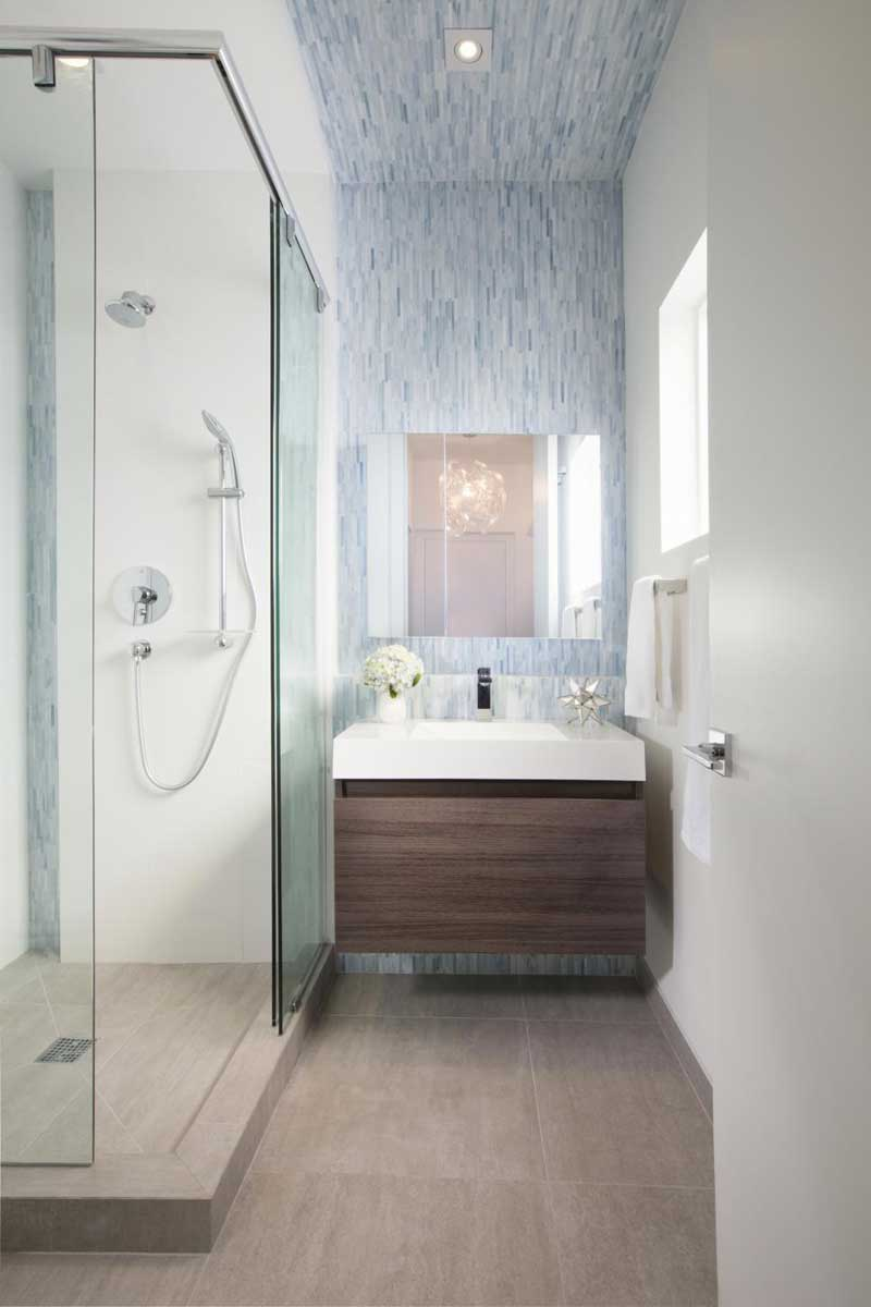 Bathroom with Space Saving Shower