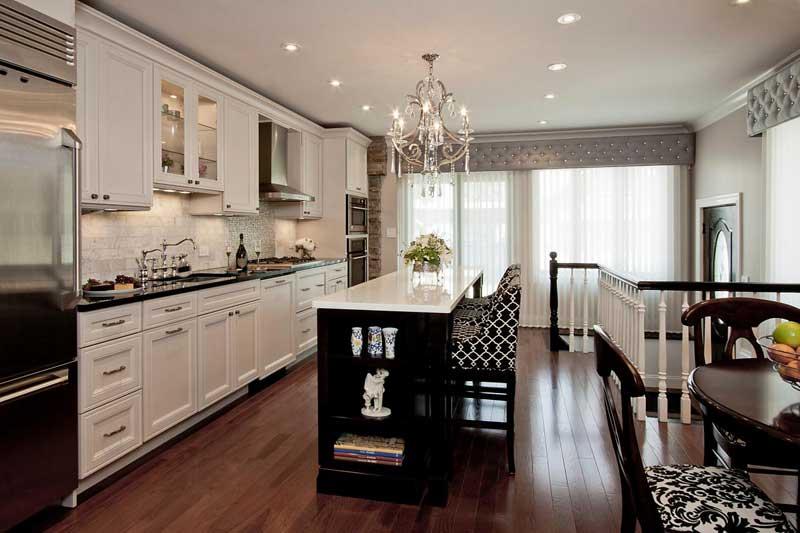 Black And White Art Deco Kitchen Design