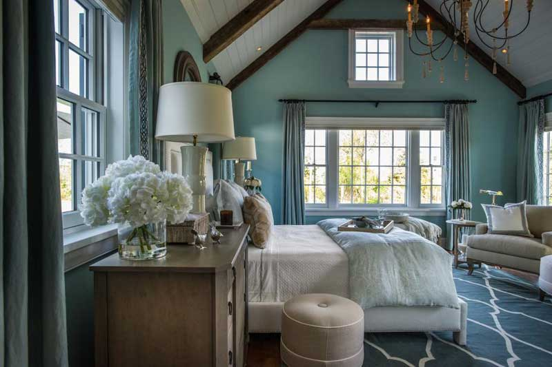 Blue Bedroom with Natural Light