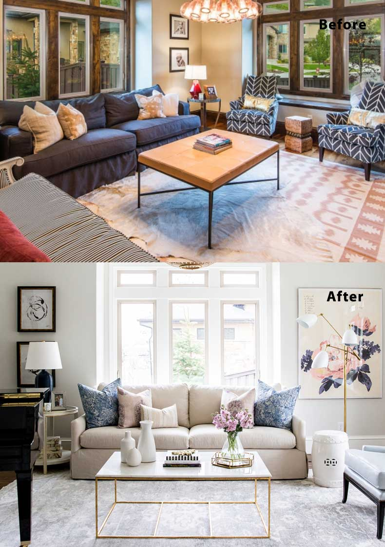 Merveilleux Living Room Remodels Before And After 04