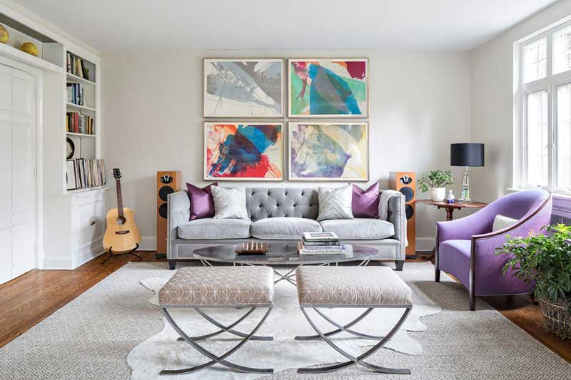 Living Room With Artwork