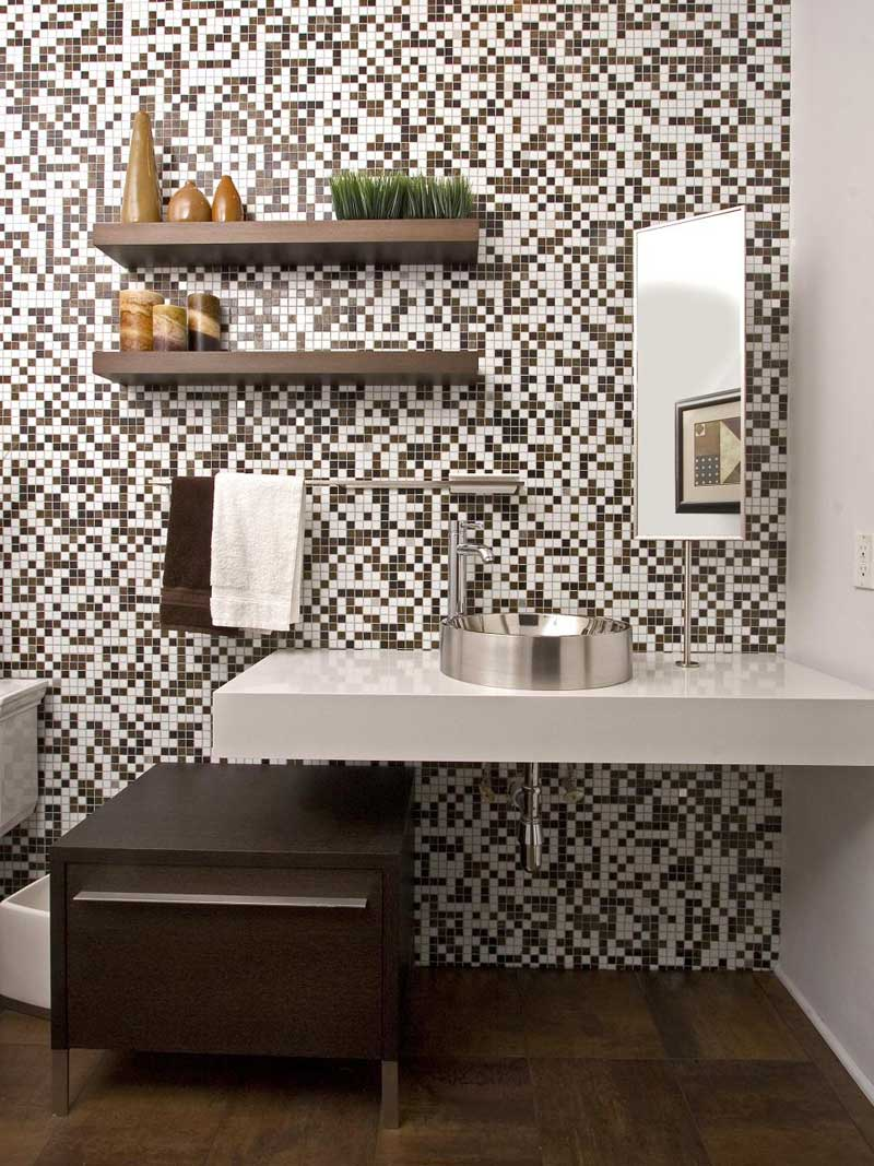 Modern Bathroom with Mosaic Tile