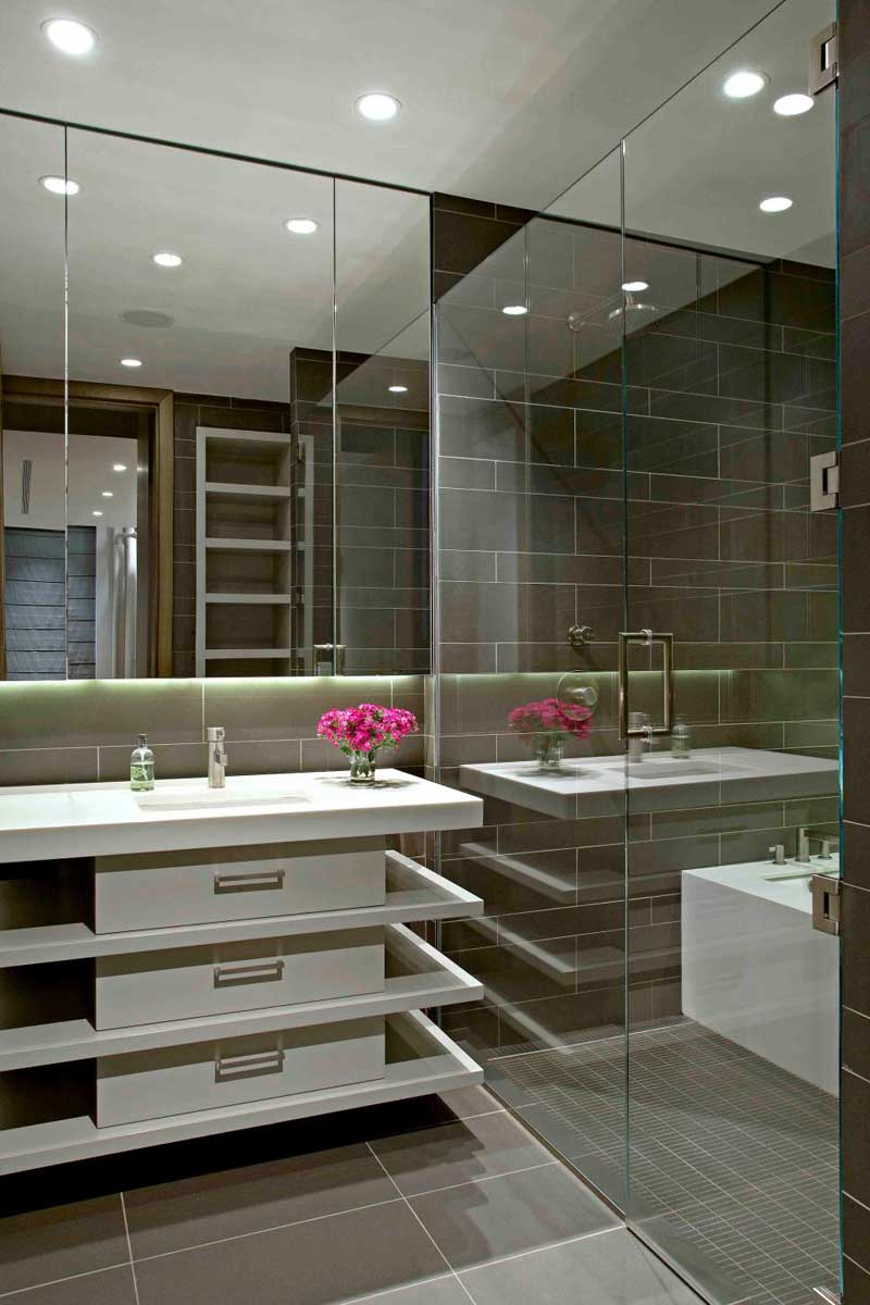Modern Bathroom with White Vanity