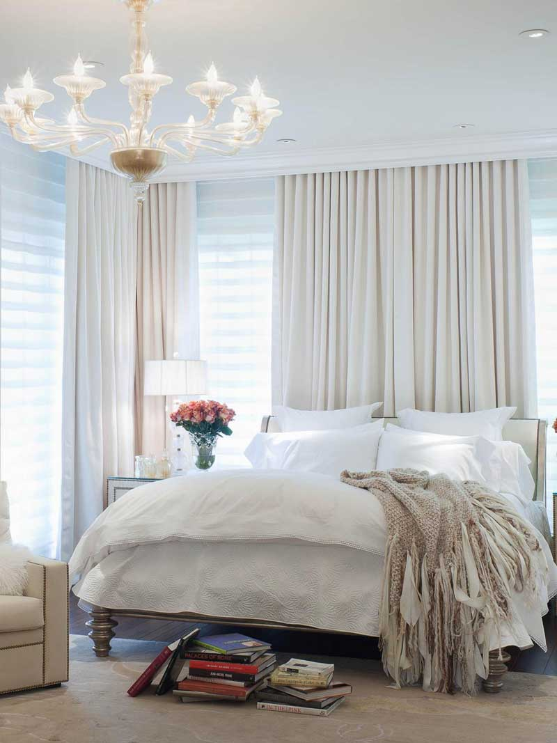 White Art Deco Bedroom