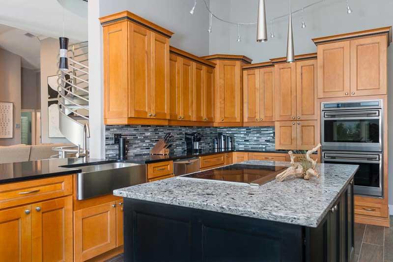 Black Quartz Kitchen Countertop