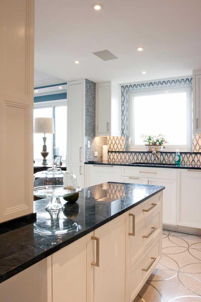 Black and White Kitchen Countertop