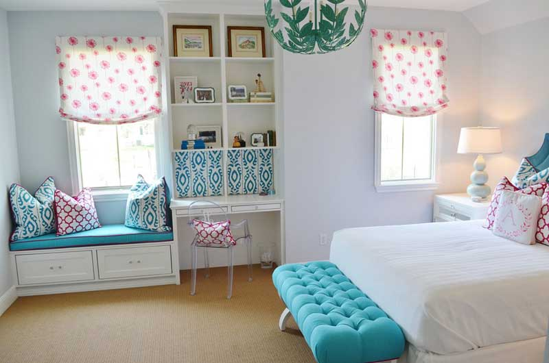 Bright and Colorful Teenage Girl Bedroom
