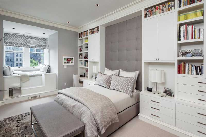 Chic Gray Teenage Girl Bedroom