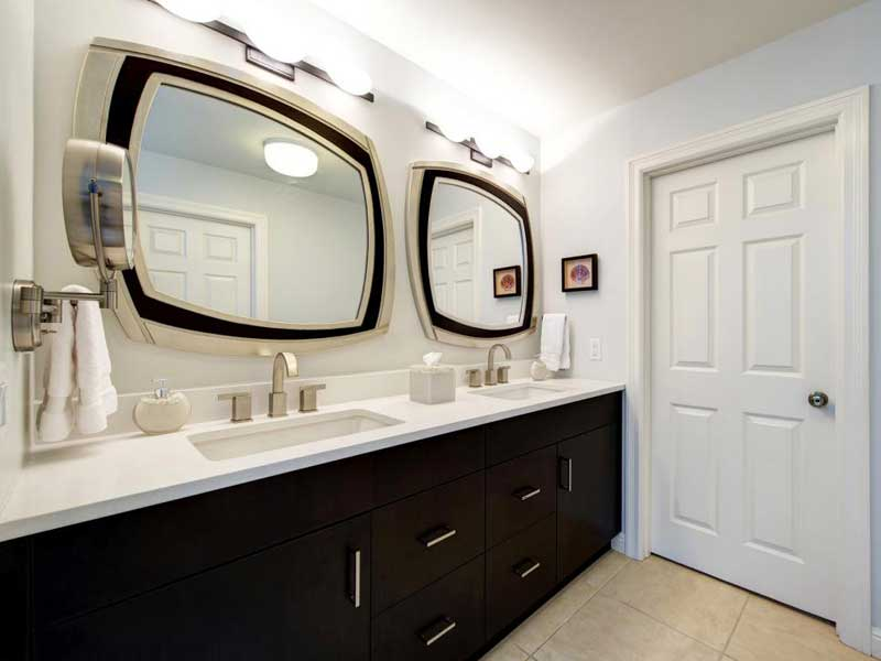 Curved Framed Mirrors