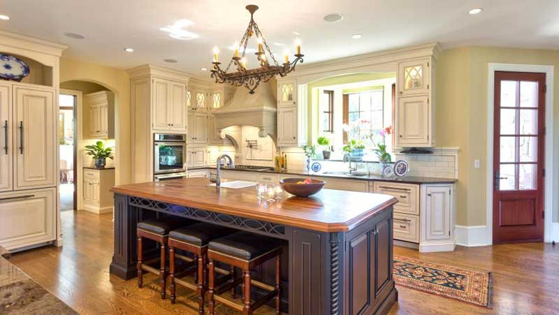 Dark Brown Kitchen Island