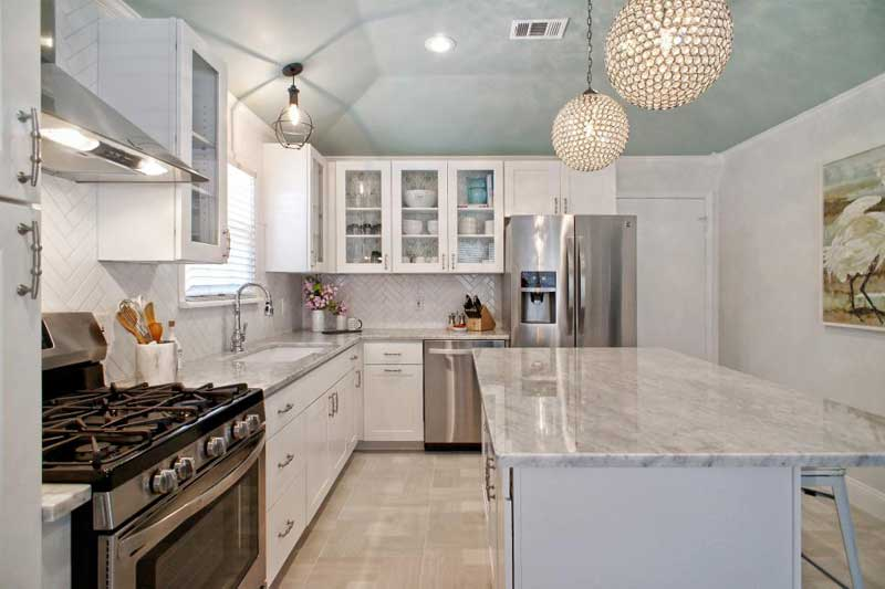 Gray and White Marble Countertop