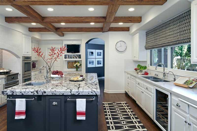 Kitchen Island With Marble Countertop