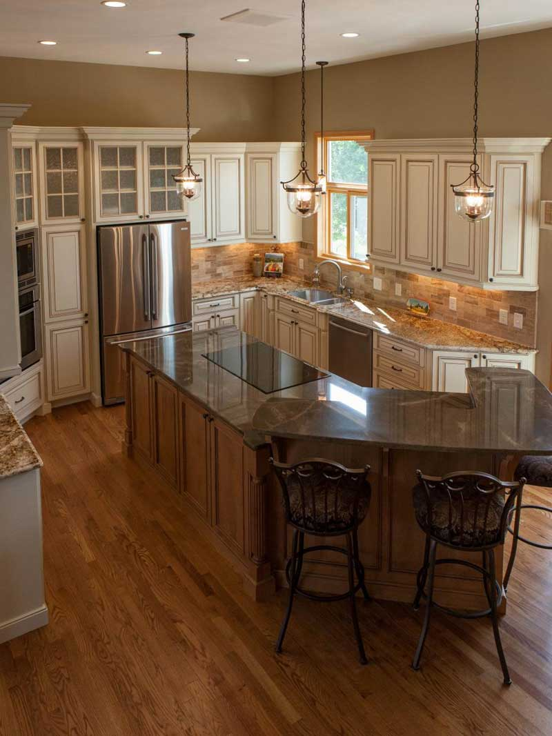 Maple Kitchen Island With Granite Countertops