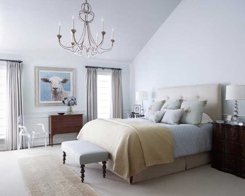 Neutral Bedroom with Soft Fabrics