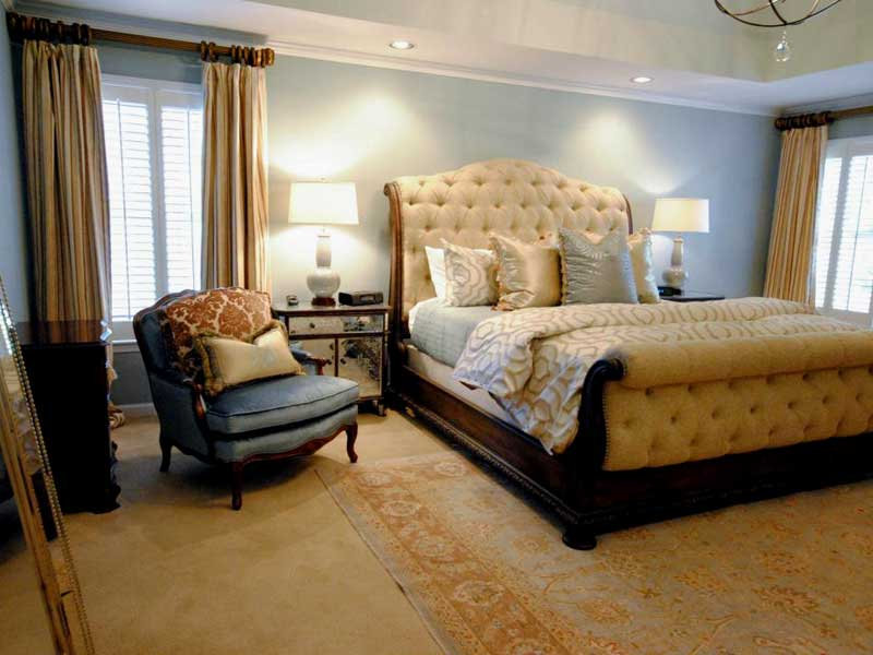 Soft Blue and Yellow Bedroom