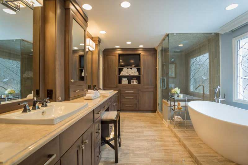 Bathroom with Stone Tile Floor