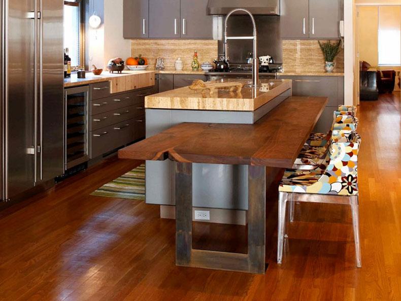 50 gorgeous kitchen island design ideas homeluf - Space saving kitchen island ...