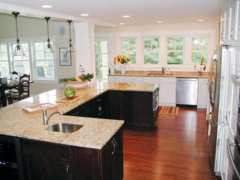 U Shaped Kitchen Island Style Awesome Ideas