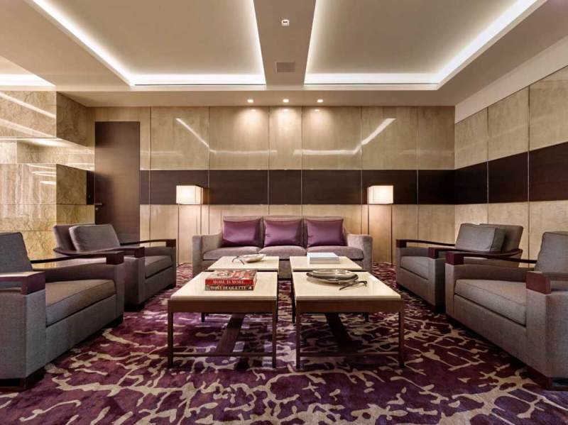 modern living room with led ceiling lights