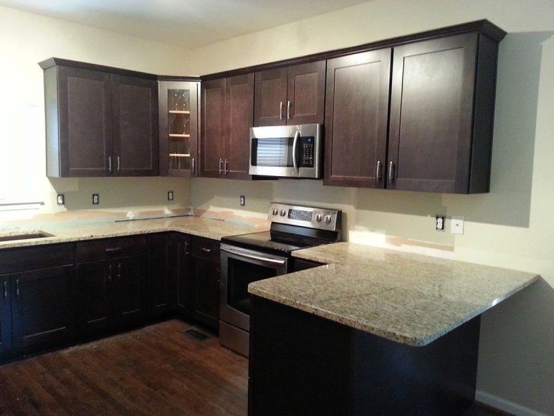 Modern Kitchen with Santa Cecilia Classic Granite