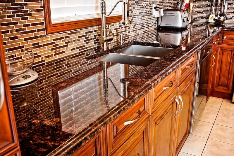 Pictures of tan brown granite countertops