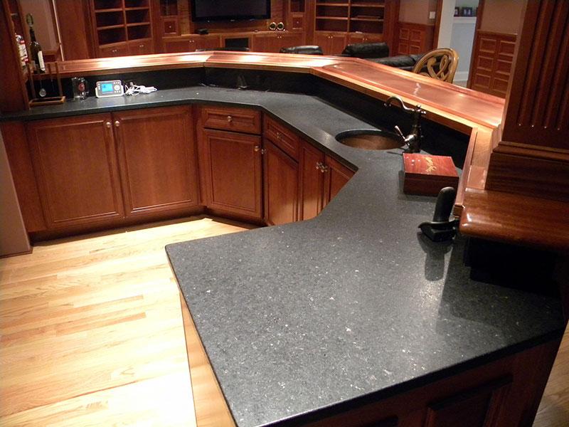 Cambrian black granite countertops