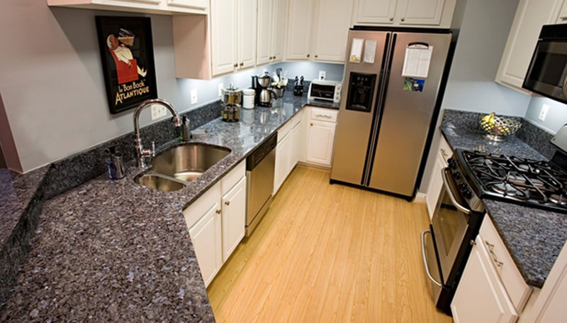 White Kitchen Cabinets With Blue Pearl Granite