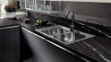 Agatha black granite countertops