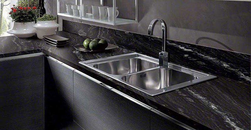 Black White Granite Countertops : home granite black granite countertops pictures cost pros cons black ...