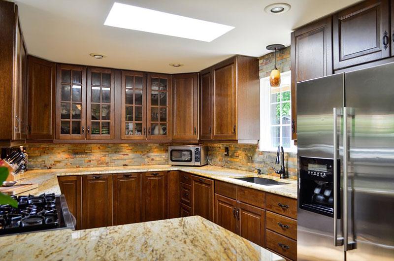 Backsplash For Venetian Gold Granite Home Design
