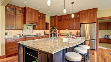 Kitchens with new venetian gold granite