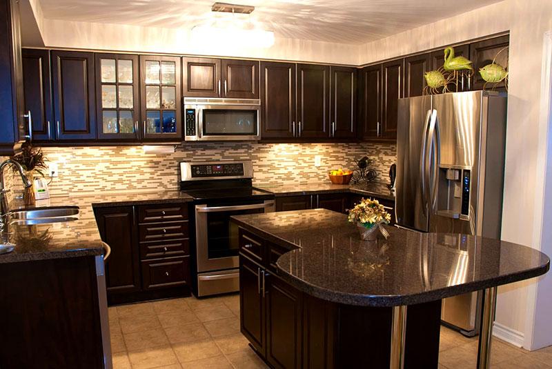 Black Granite With Black Kitchen Cabinets