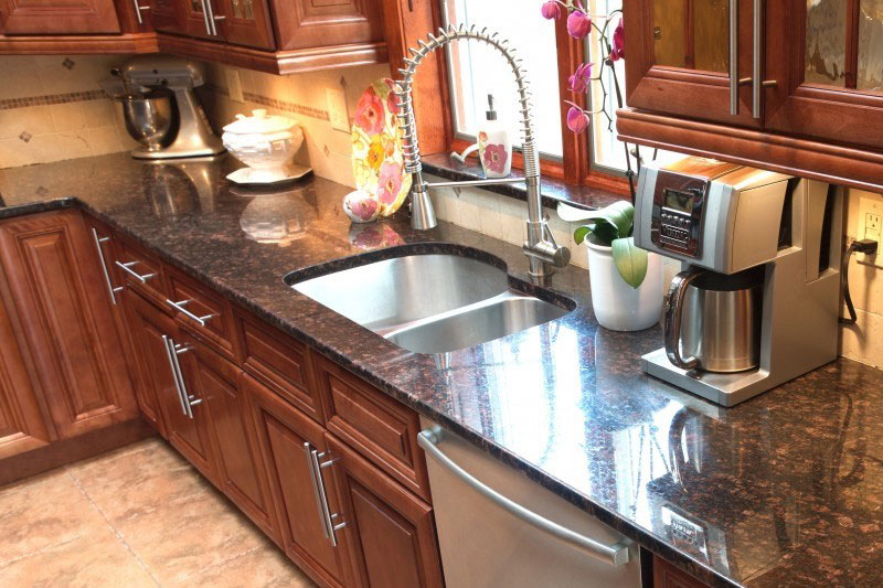 Tan brown countertops