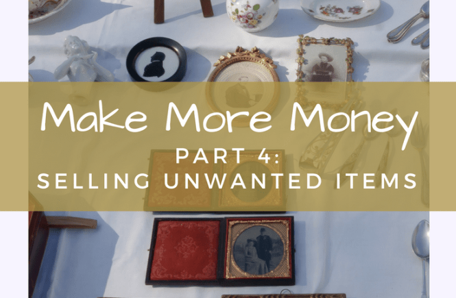 How can you make extra money by selling your unwanted items? Click on the picture to read my review of four different online selling platforms!