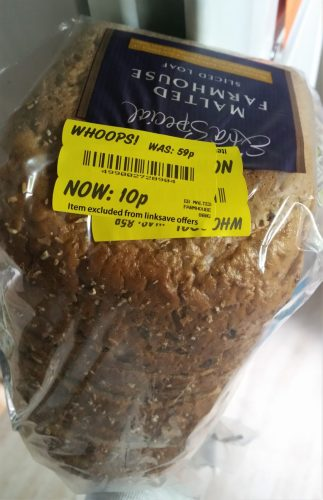 10p bread thanks to yellow sticker shopping at the right time!