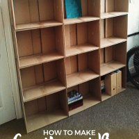 How To Make Cardboard Box Shelves