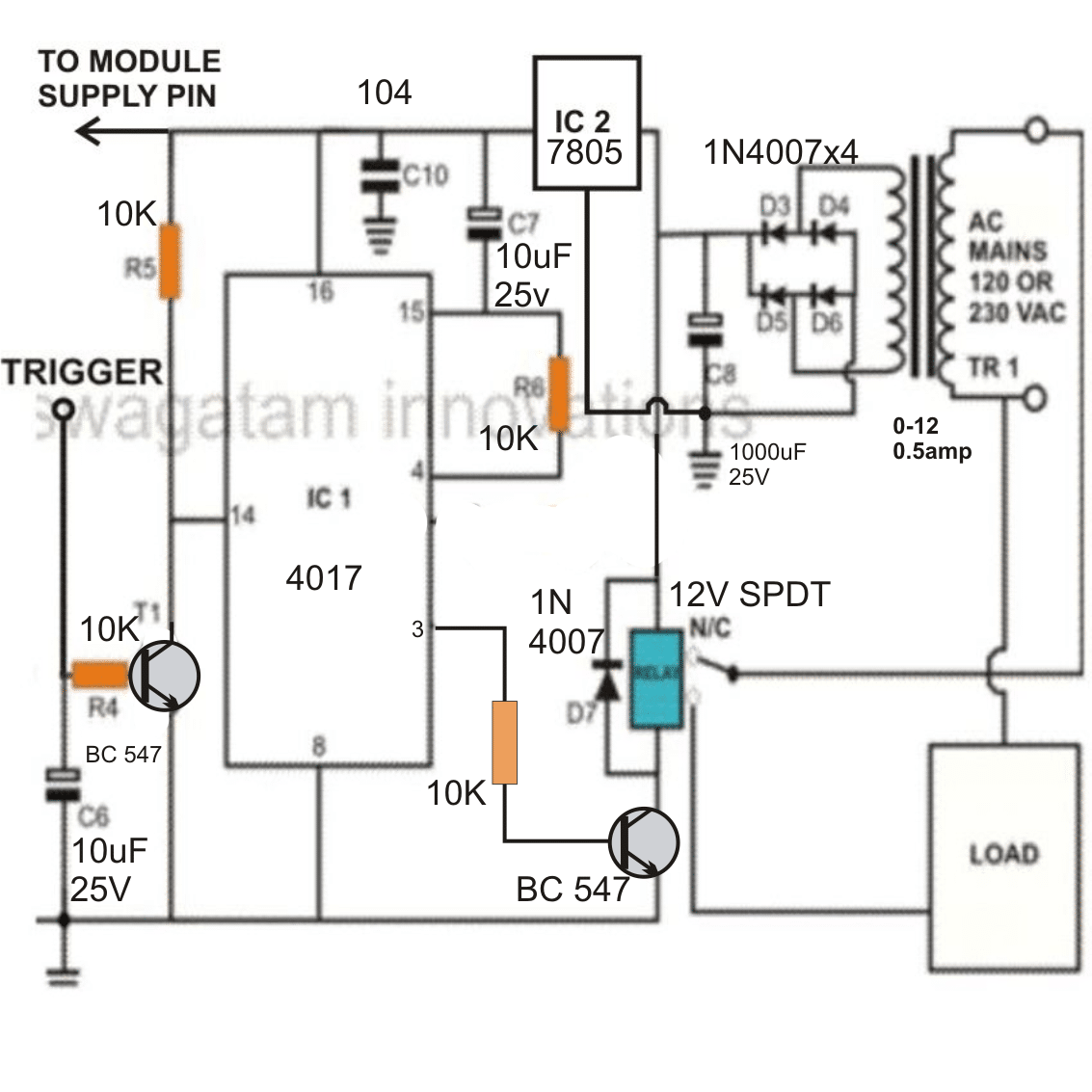 Rf Remote Control Circuit Using 433mhz And 315mhz Rf Modules