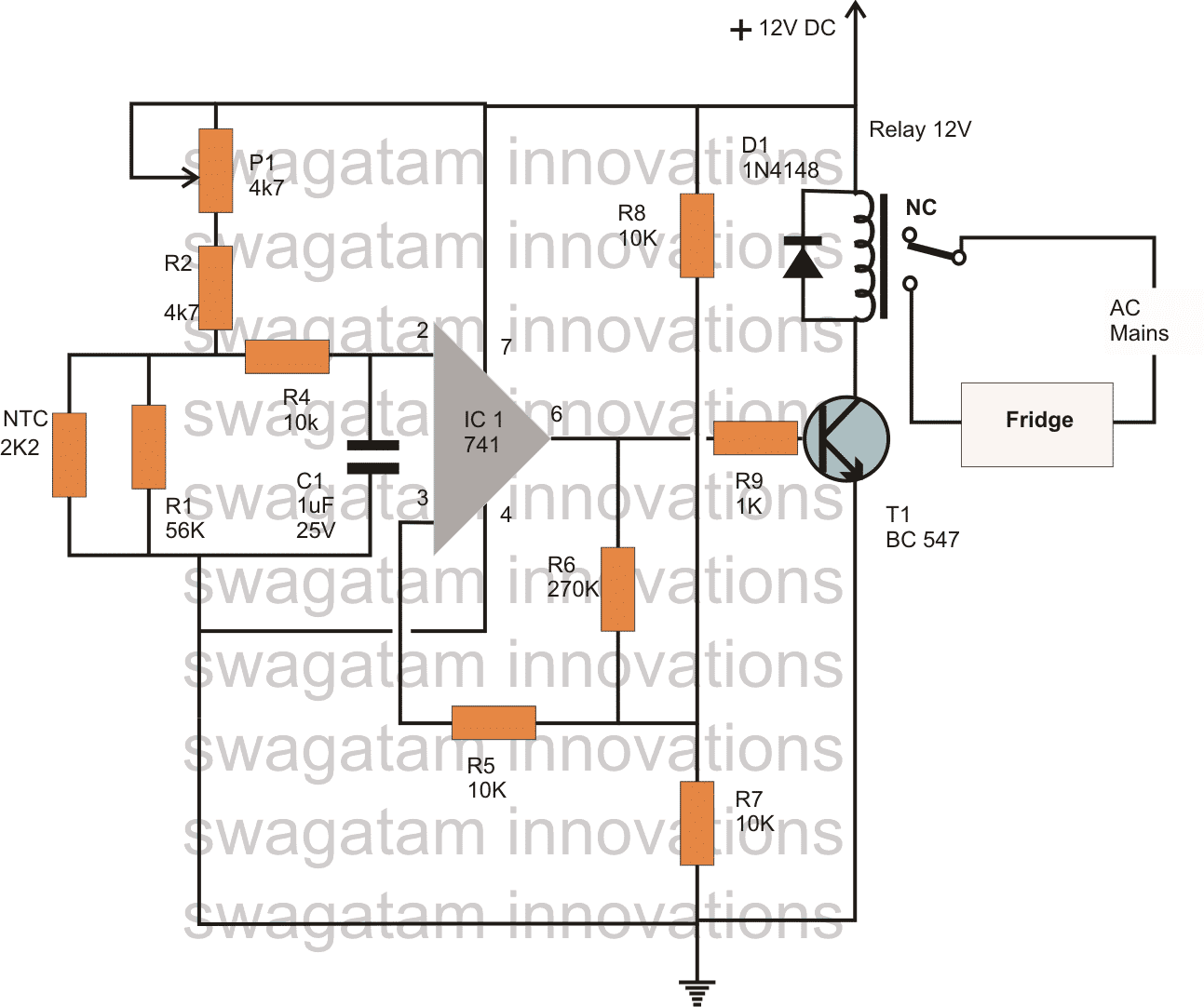 3 Accurate Refrigerator Thermostat Circuits