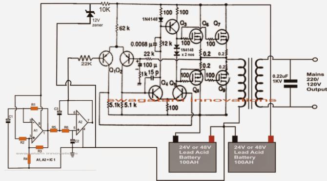 inverter circuit diagrams 1000w pdf  7 way trailer plug