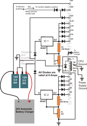 Transformerless UPS Circuit for Computers (CPU)   Homemade Circuit Projects
